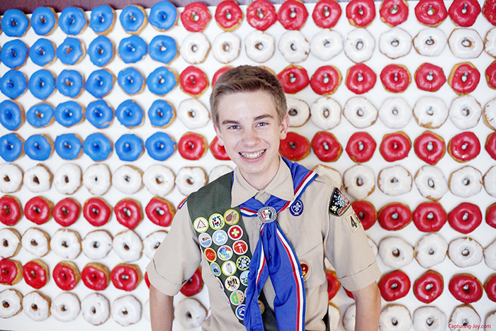 Eagle Scout with American Flag Donut Wall