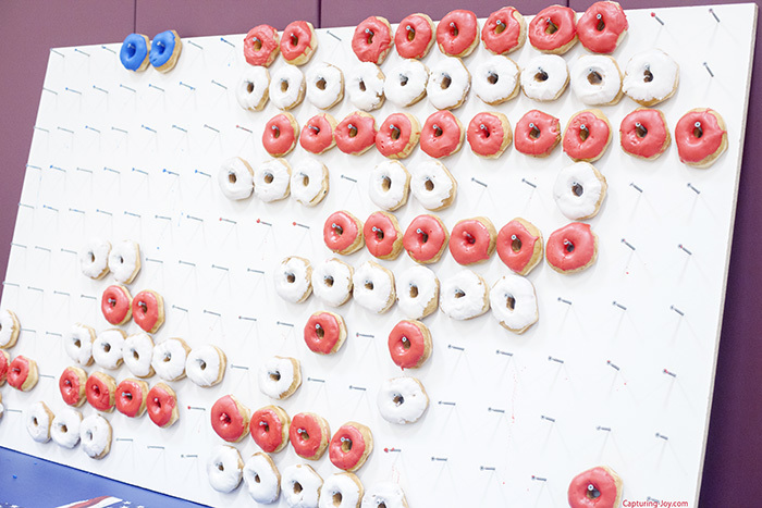 Eating American Flag Donut Wall