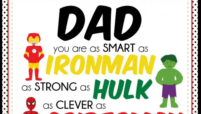 Fathers Day Free Print Gift Idea