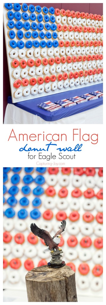 How to make an American Flag Donut wall for Eagle Scout award