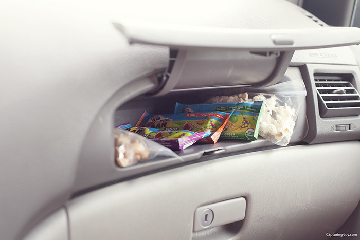 Ideas for Snacks on the go in the car