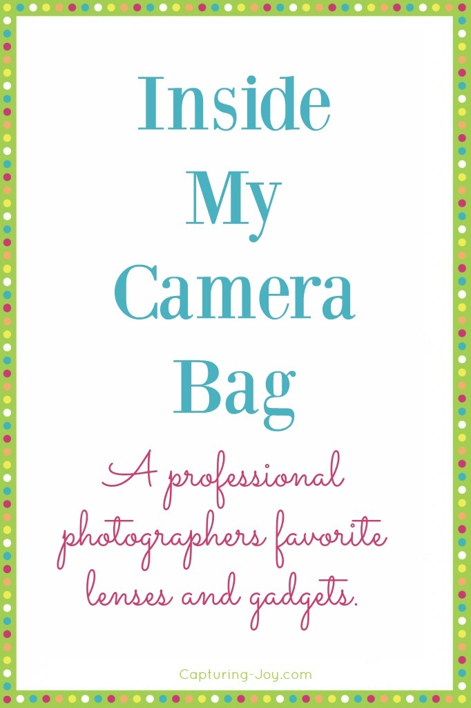 Inside by Camera bag from a professional photographer