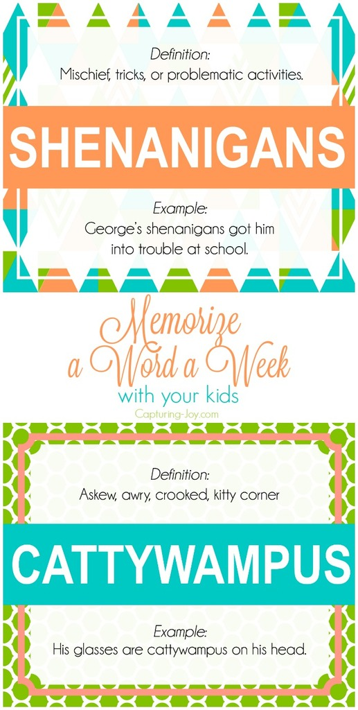 Memorize a Word a Week with your Kids