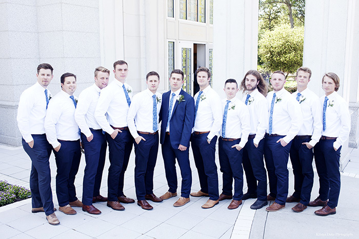 Serious Groomsman picture at Houston LDS Temple Wedding. Click to see lots more!