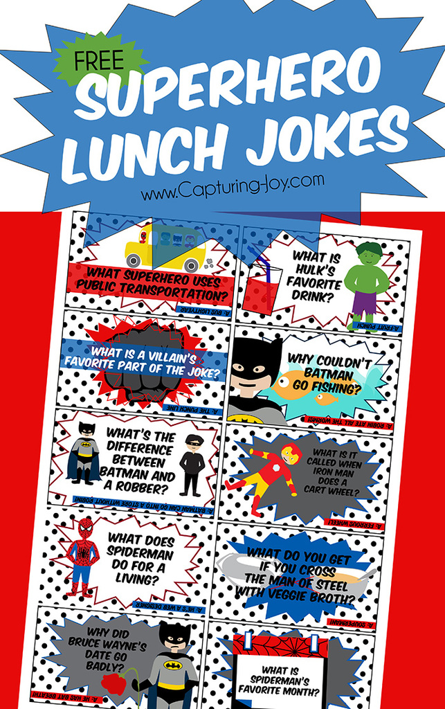 Superhero Lunchbox Jokes for kids