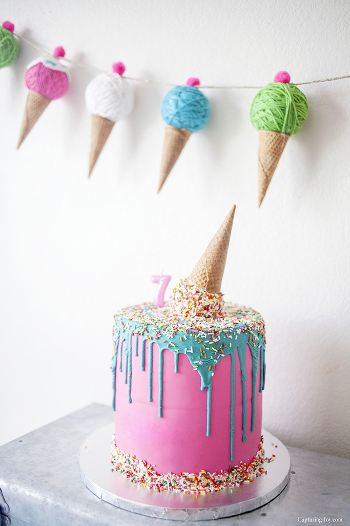 How To Make Cake Decoration Cone : Kids Ice Cream Birthday Party - Capturing Joy with Kristen ...