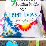 9 Summer boredom busters for teen boys.   Capturing-Joy.com