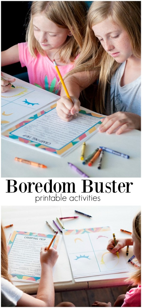 Boredom Buster Printable Activities