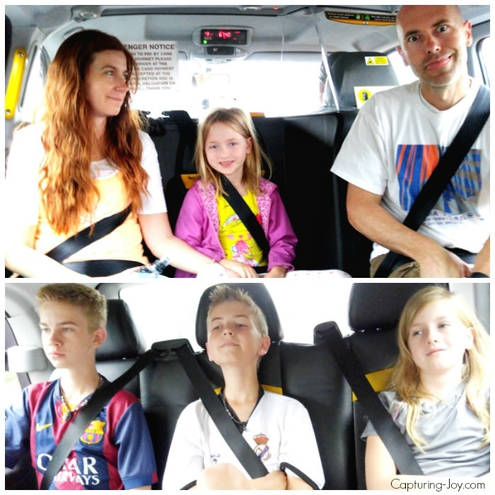 Family of 6 taxi in London