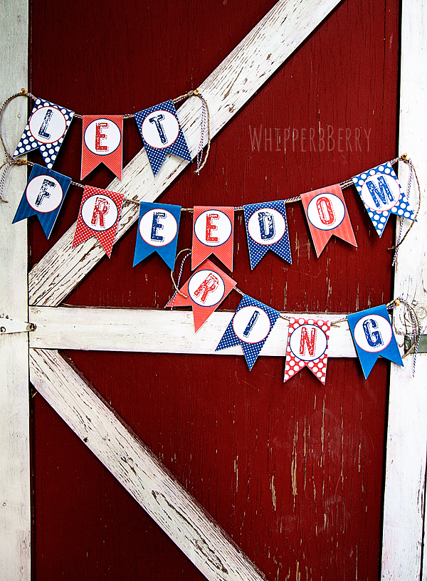 Fun patriotic party printables for your 4th of July party. | Capturing-Joy.com