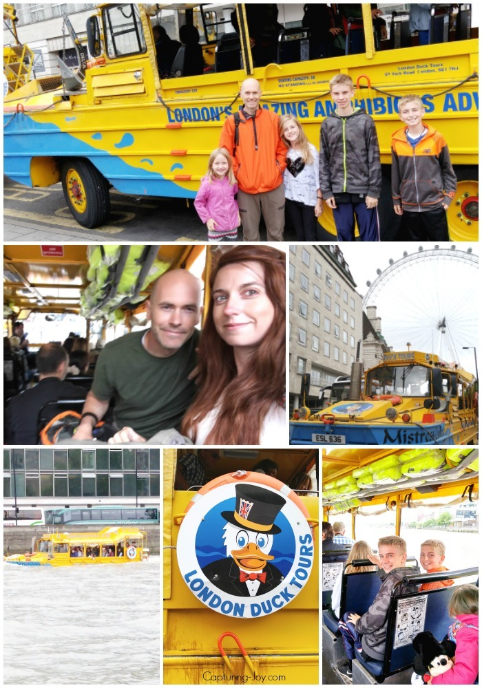 London Duck Tour on boat and land