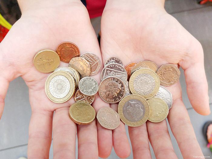 London coins pounds