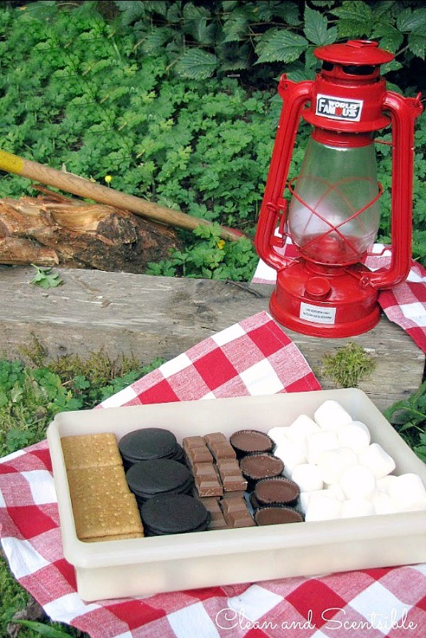 Tips for camping with large families. Prepare as much of the food as you can ahead of time.