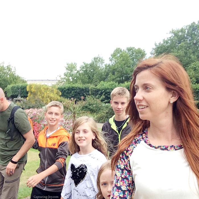 family stroll through Hyde Park in London