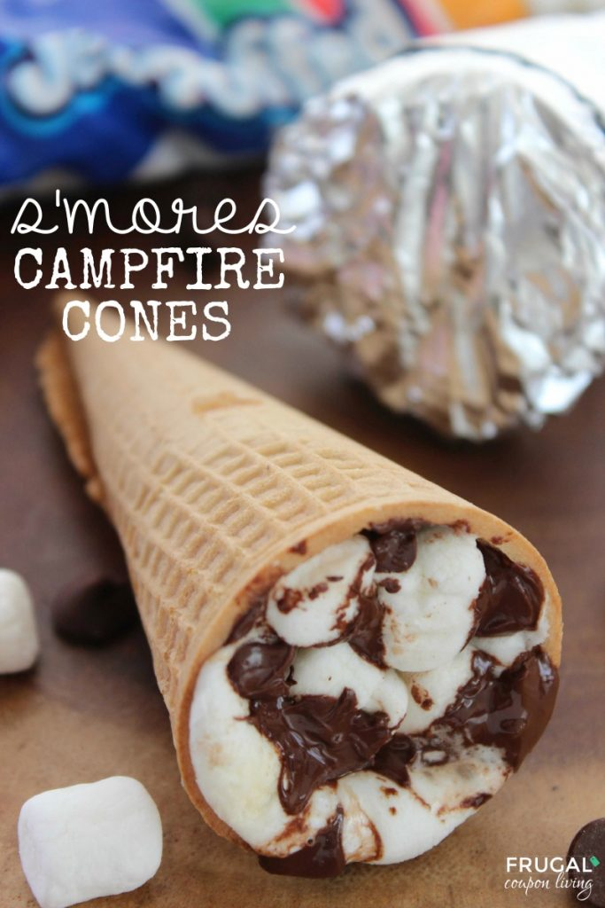S'more campfire cones are fun and easy to make!
