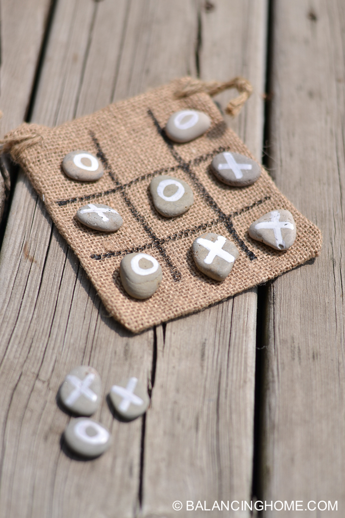 easy tic tac toe game. You can make these while camping or have them done before.