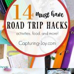 Road trips in the summer are one of my family's favorite activities but it can get tiresome. Here are 14 great road trip hacks: food, actives and more! | Capturing-Joy.com