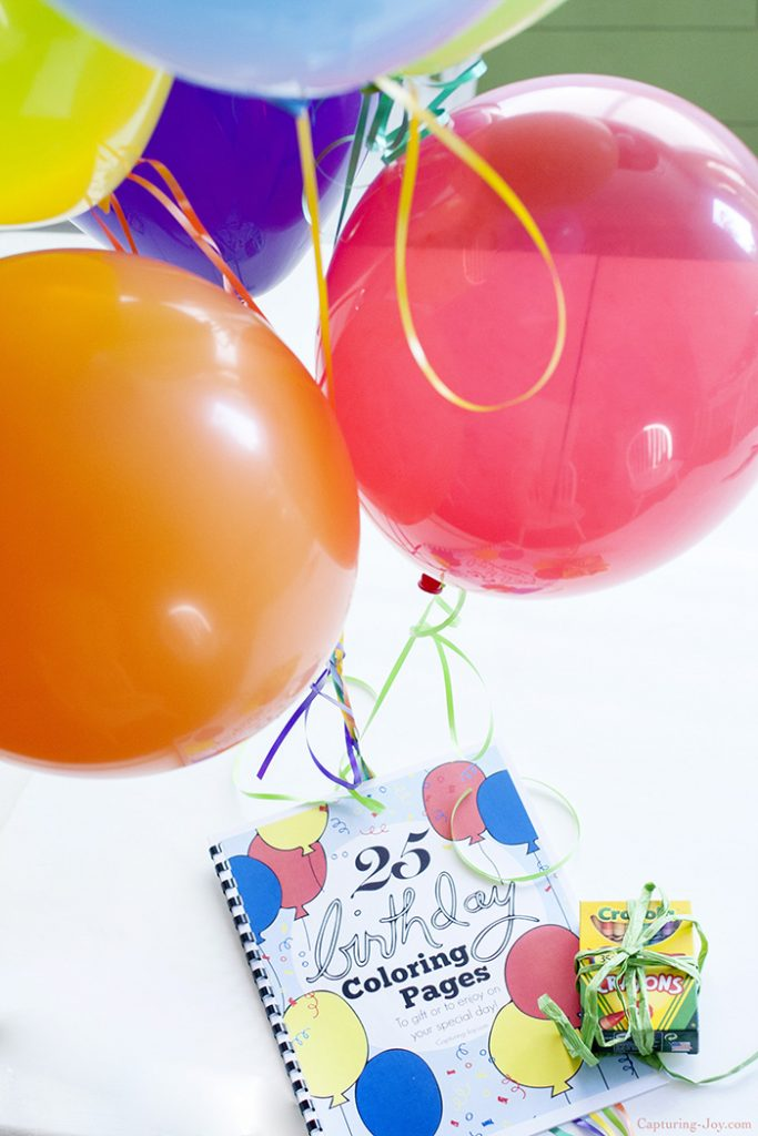 25 Birthday Coloring Pages