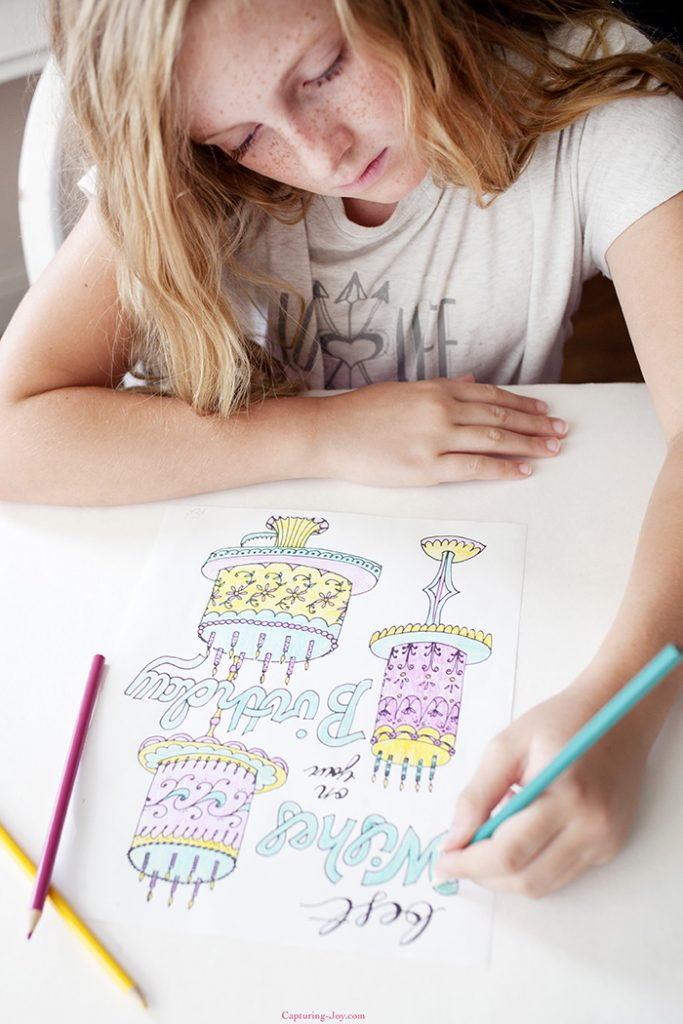 Birthday gift ideas for Kids Coloring pages