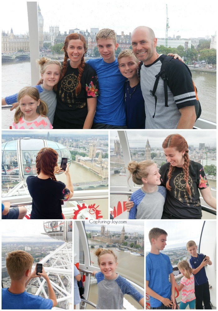 Family on the London Eye