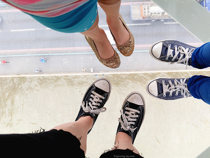 Glass floor on tower bridge