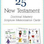 New Testament Scripture Mastery memorization cards