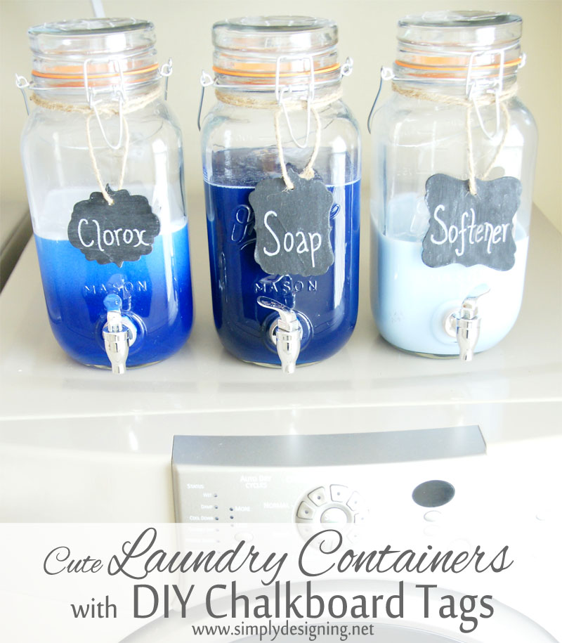 DIY laundry soap containers.