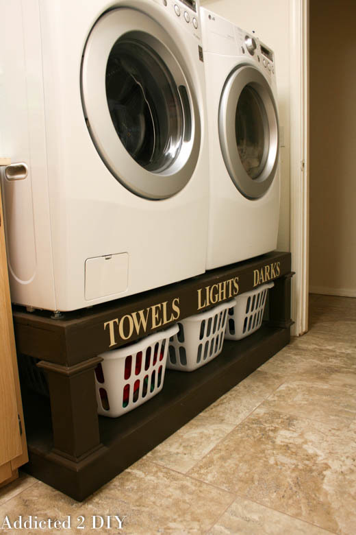 Laundry room washer and dryer pedestal!