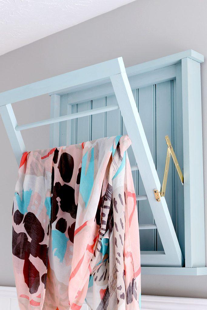 DIY laundry drying rack.