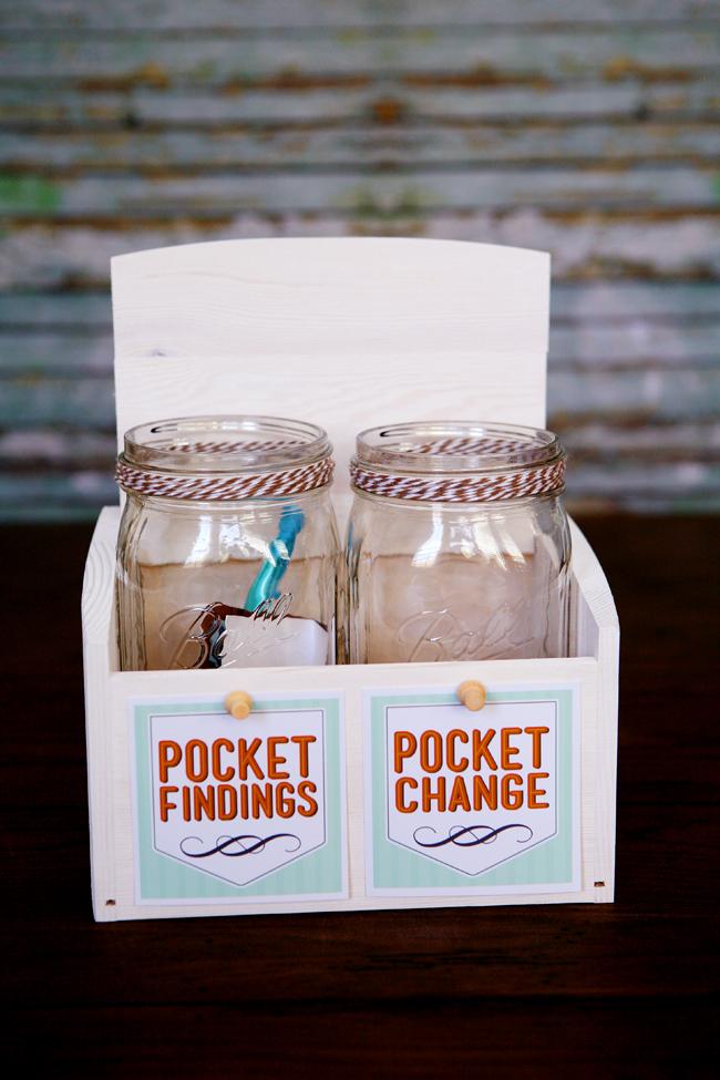 Laundry room mason jar idea.
