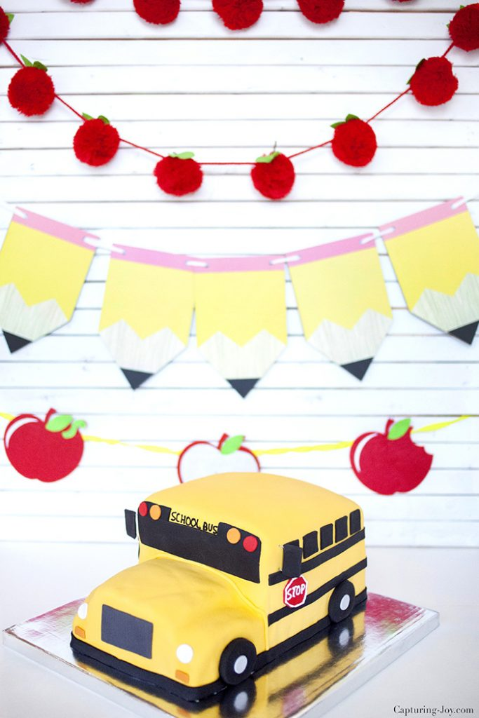 Back to School bus cake