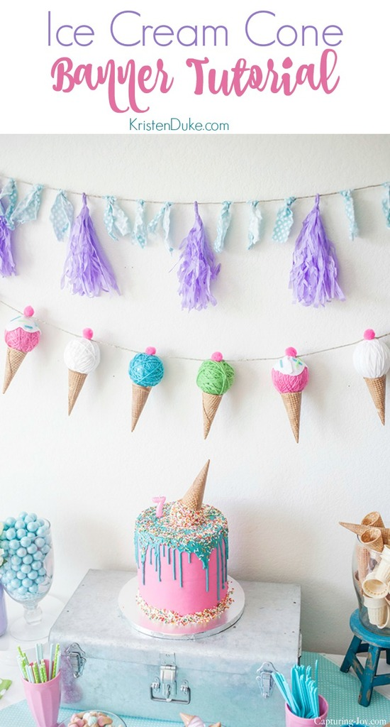 Ice Cream Cone Banner Tutorial