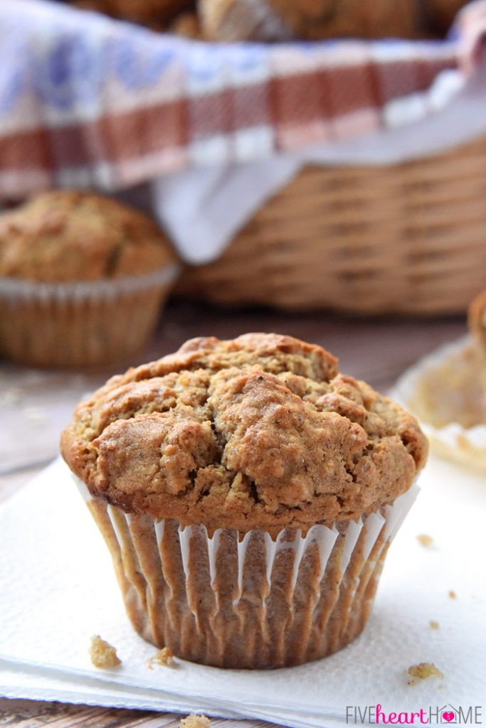 Oatmeal spiced muffins