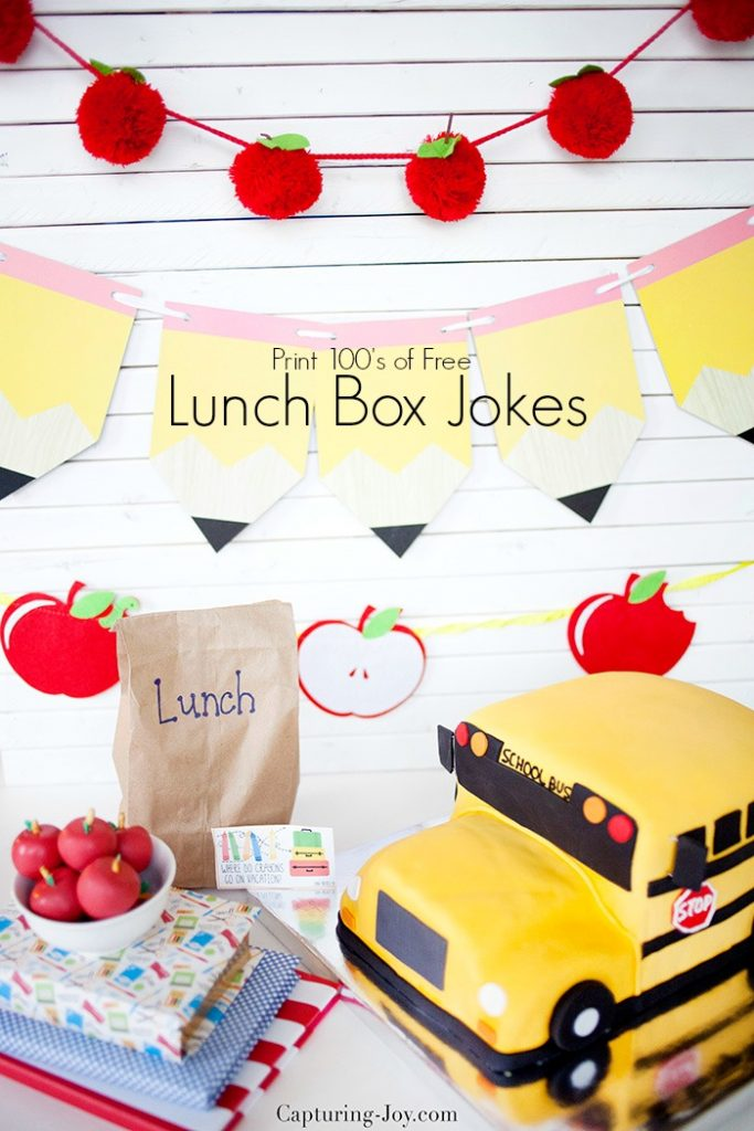 Print free lunch box jokes for kids