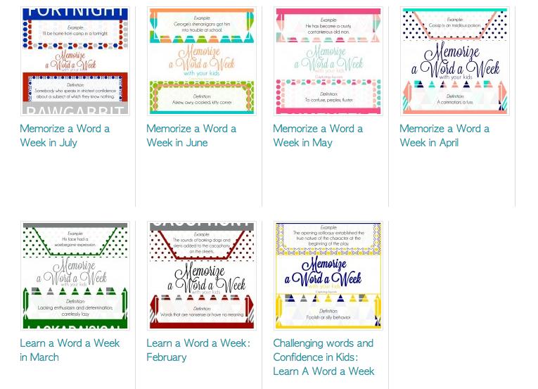 Memorize words