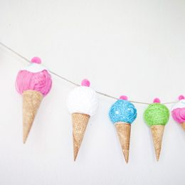Ice Cream Cone Banner