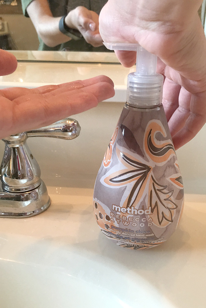 method hand soap pumpkin clove by Rebecca Atwood