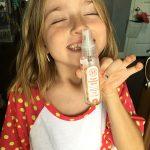 the honest company orange hand sanitizer spray