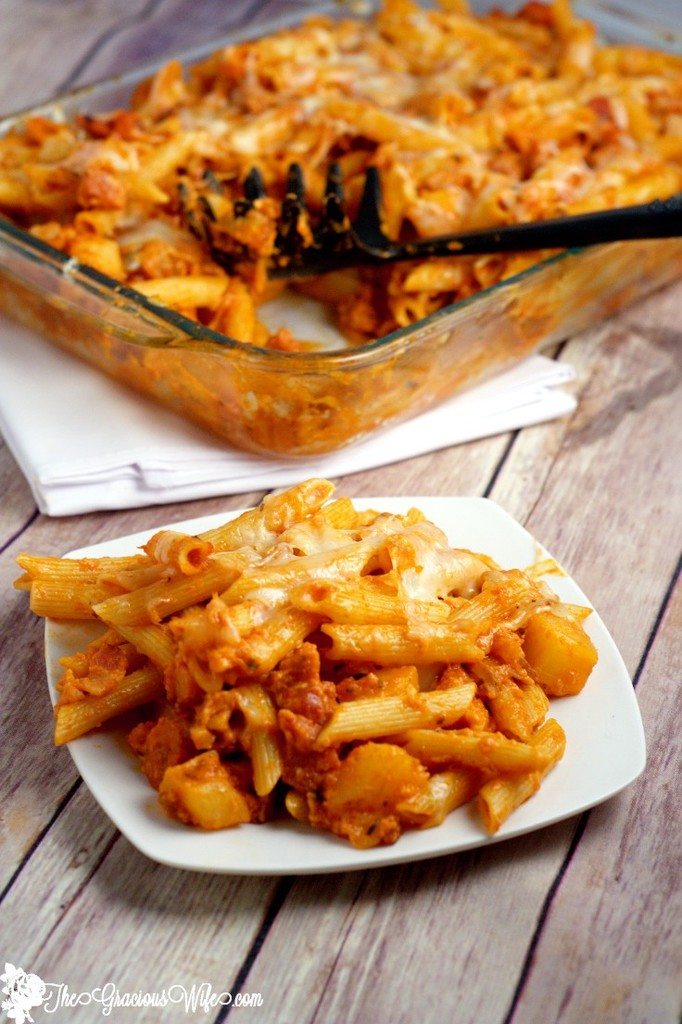 Hawaiian-Pizza-Pasta-Bake-8