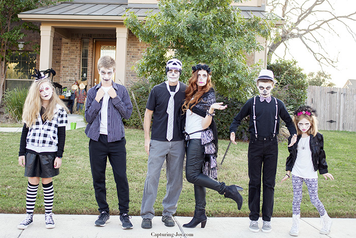 Family Skeleton Halloween Costumes