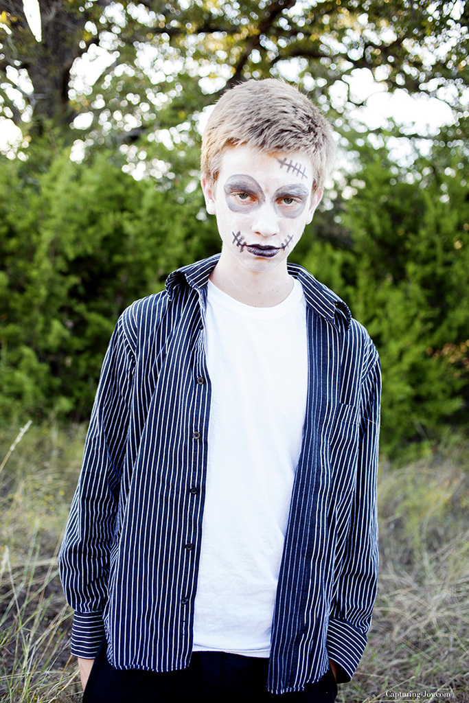 teenage boy sugar skull costume