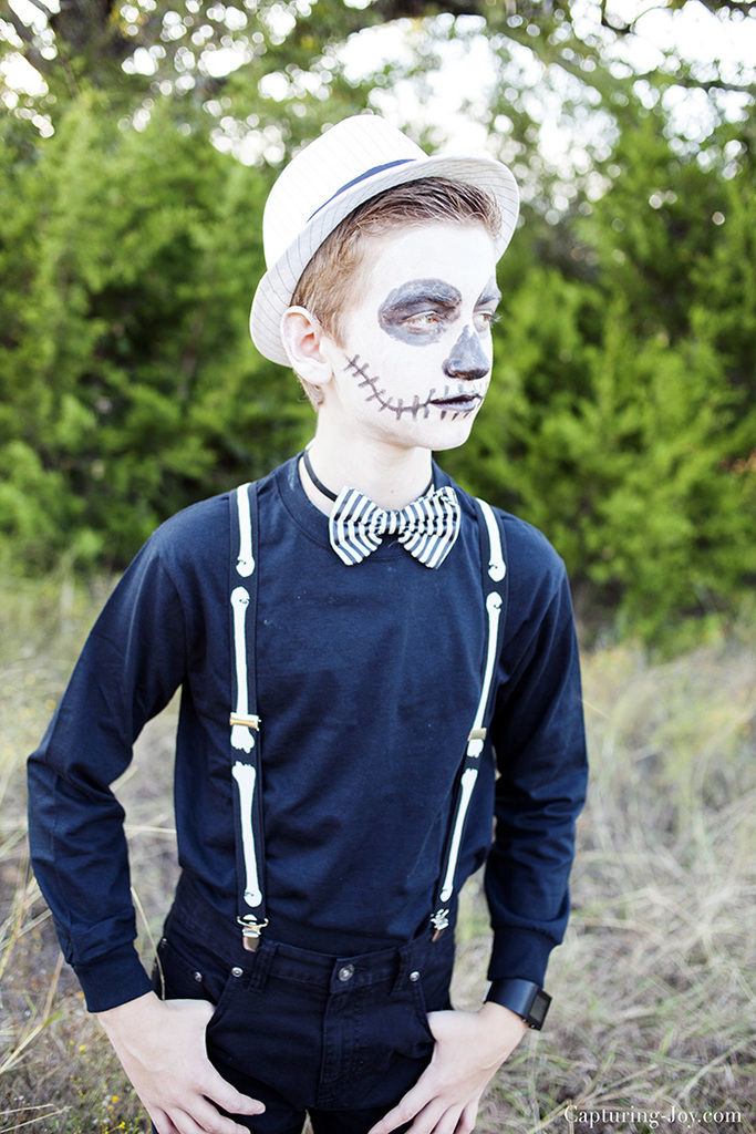 Teenage Boy Sugar Skull Halloween Costume