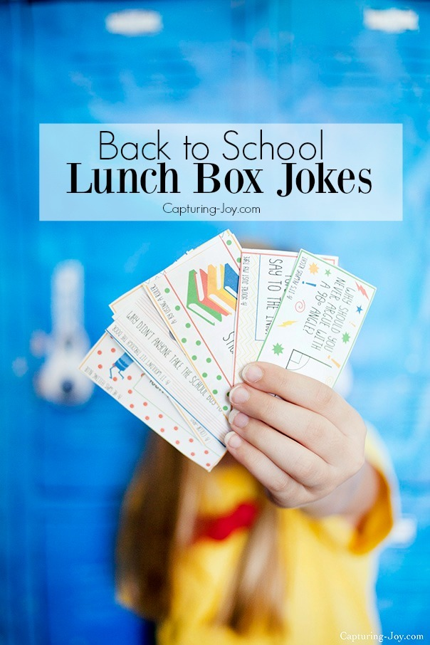 Back to School Kids Lunch Box Jokes free printable