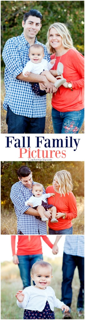 Fall Family Pictures with one year old baby