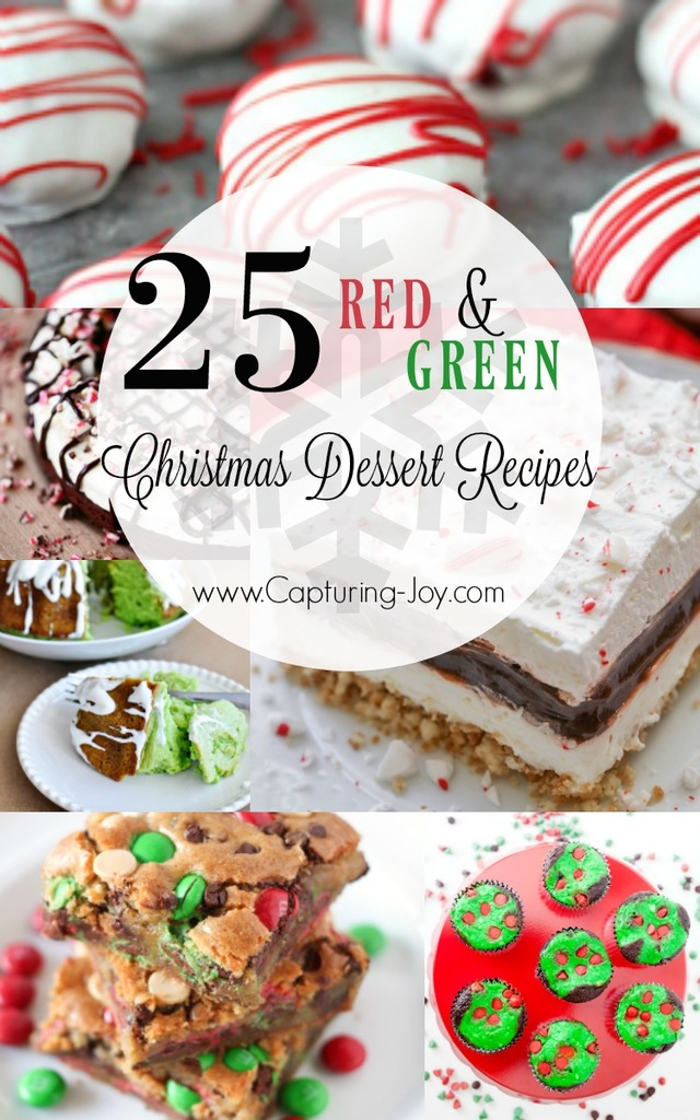 Red and Green Christmas Dessert Recipes