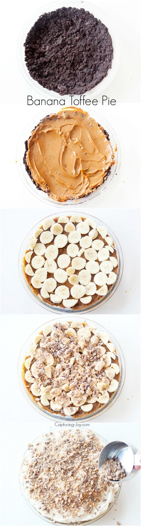 Banana Toffee Pie Steps