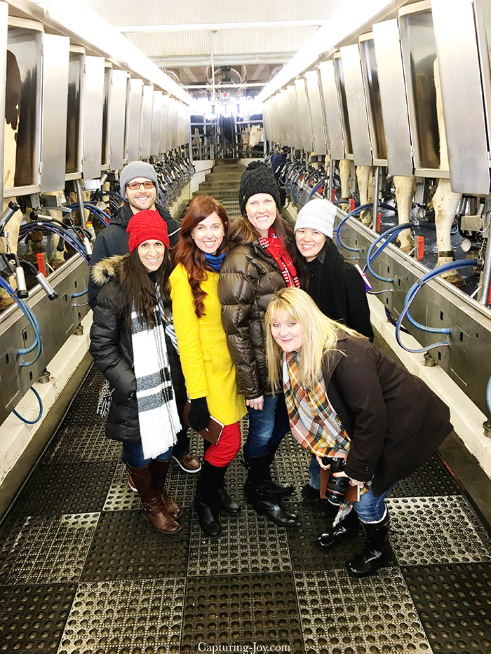 Blog friends at Meadow Lane Dairy for HERSHEYS