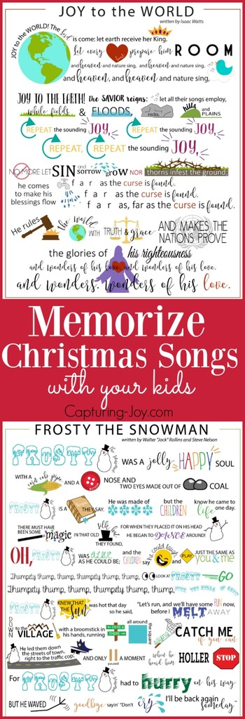 Memorize Christmas songs with your kids // Capturing-Joy.com