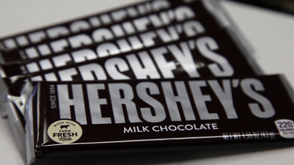 Hersheys wrapped milk chocolate bar