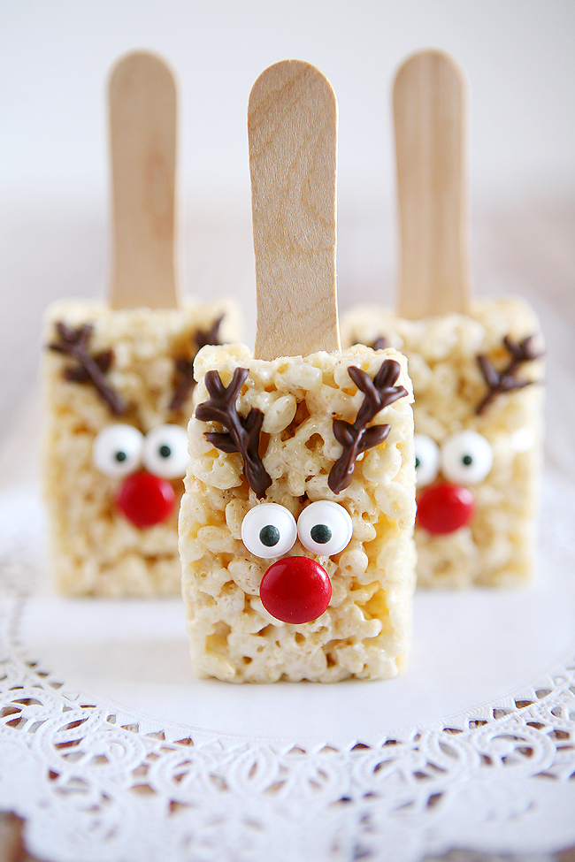 reindeer rice krispy treats